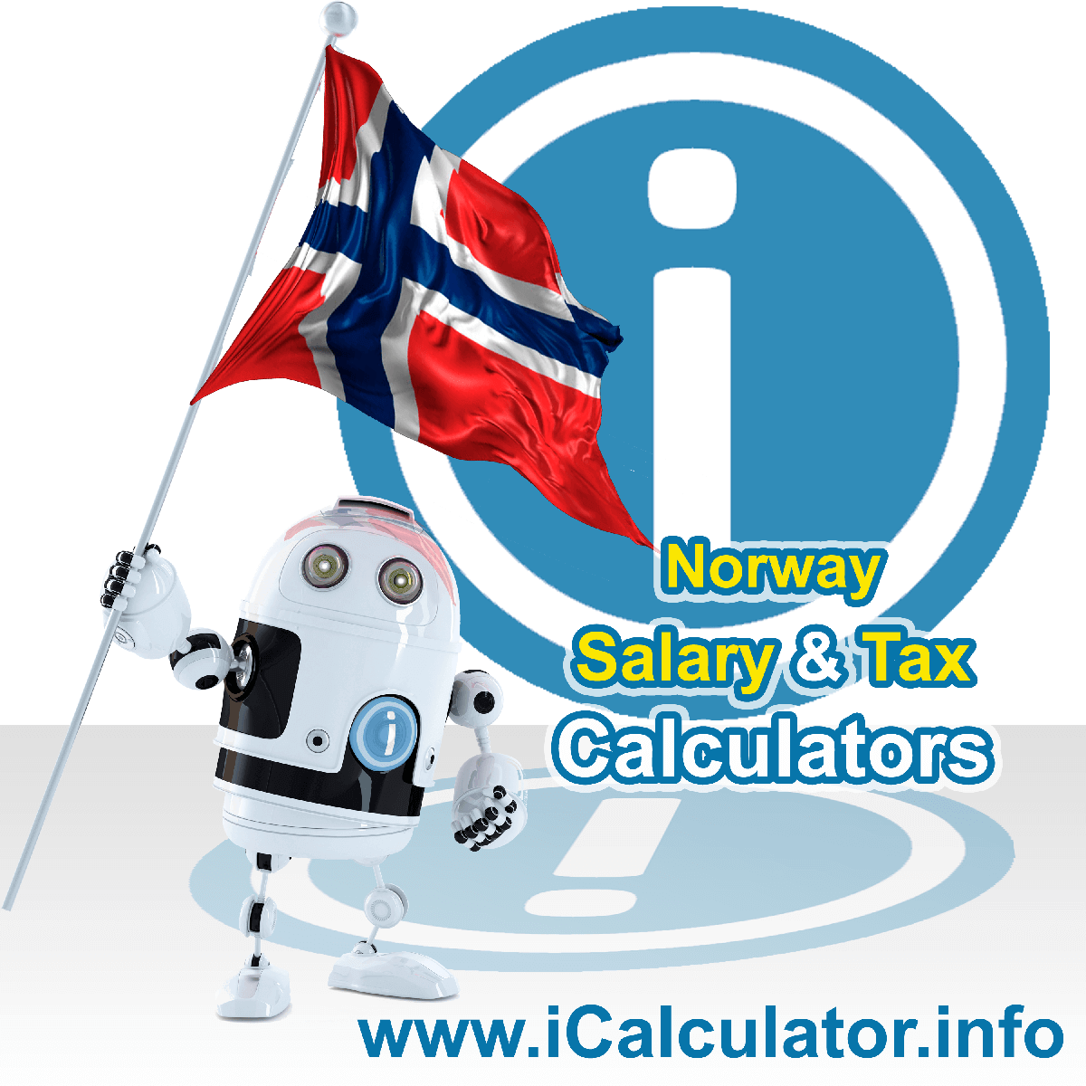 Norway Tax Calculator. This image shows the Norway flag and information relating to the tax formula for the Norway Salary Calculator