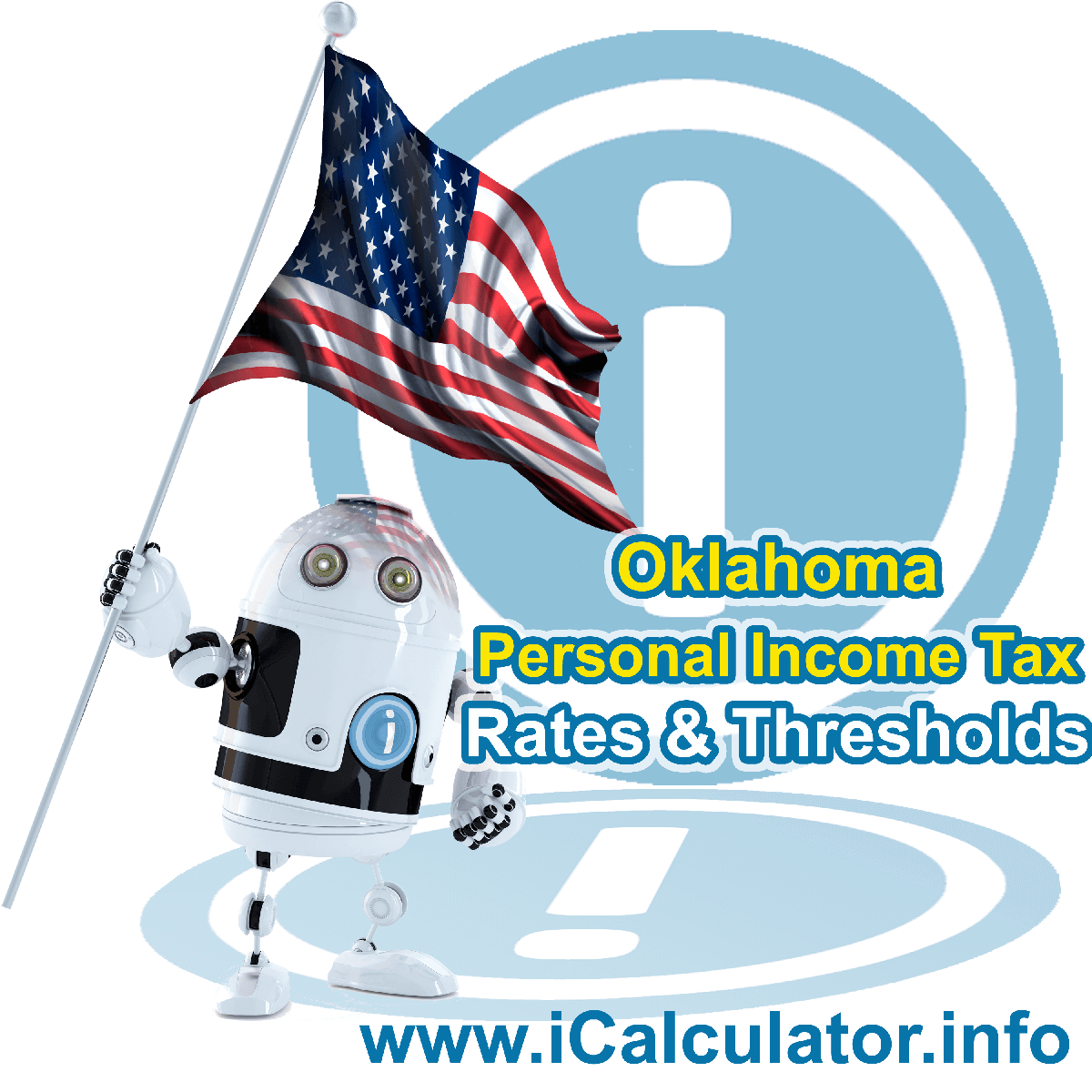 Oklahoma State Tax Tables 2013. This image displays details of the Oklahoma State Tax Tables for the 2013 tax return year which is provided in support of the 2013 US Tax Calculator