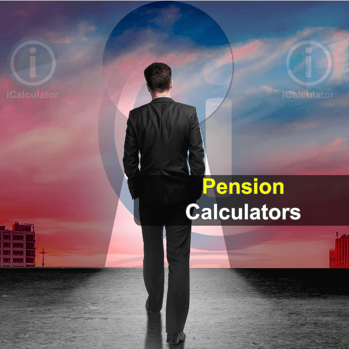 Pension Calculators. This image shows an employee considering the merits of different pension providers and calculating the investment risk and return on investment using the pension calculators provided by iCalculator.