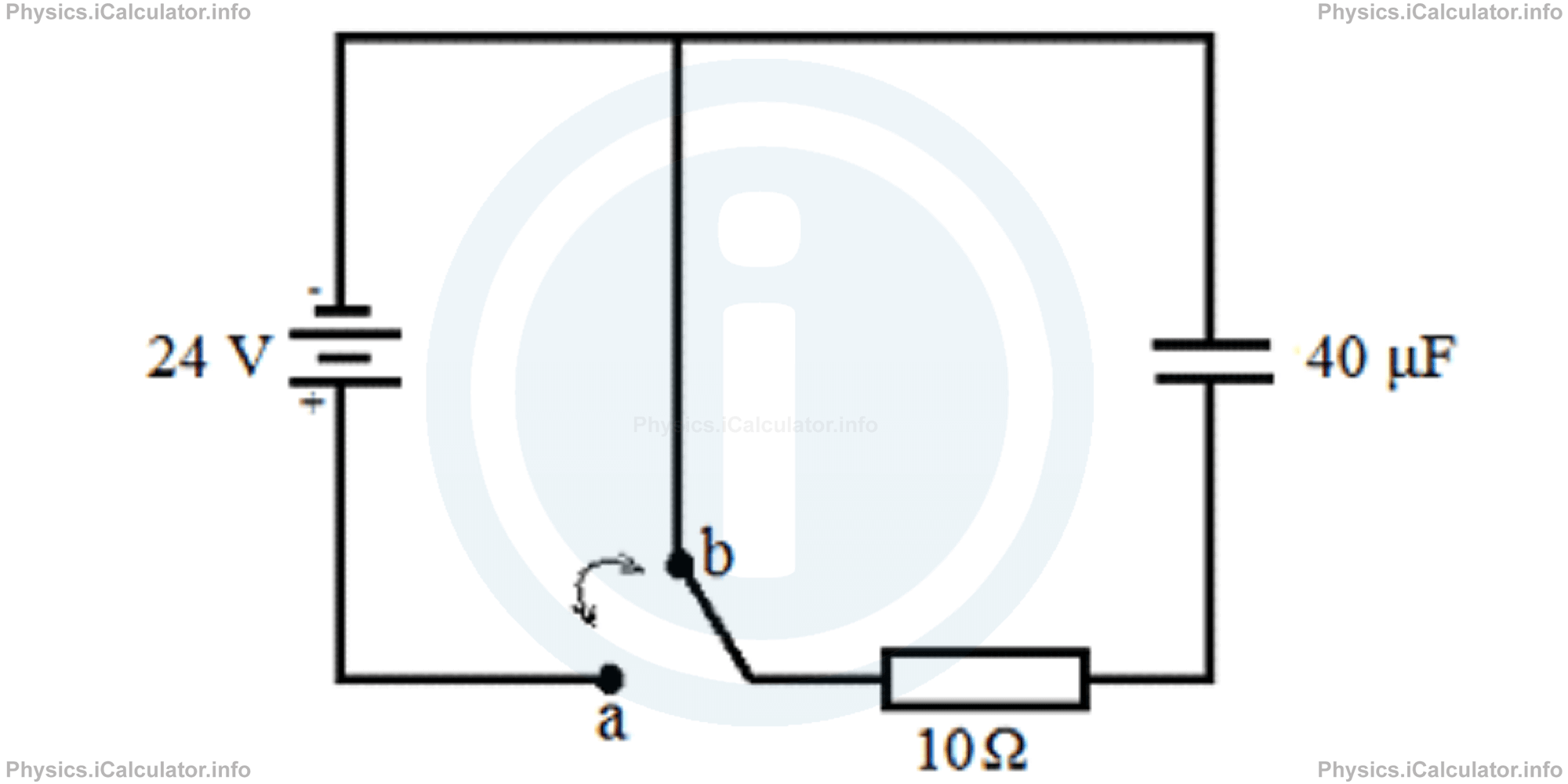 Physics Tutorials: This image provides visual information for the physics tutorial RC Circuits