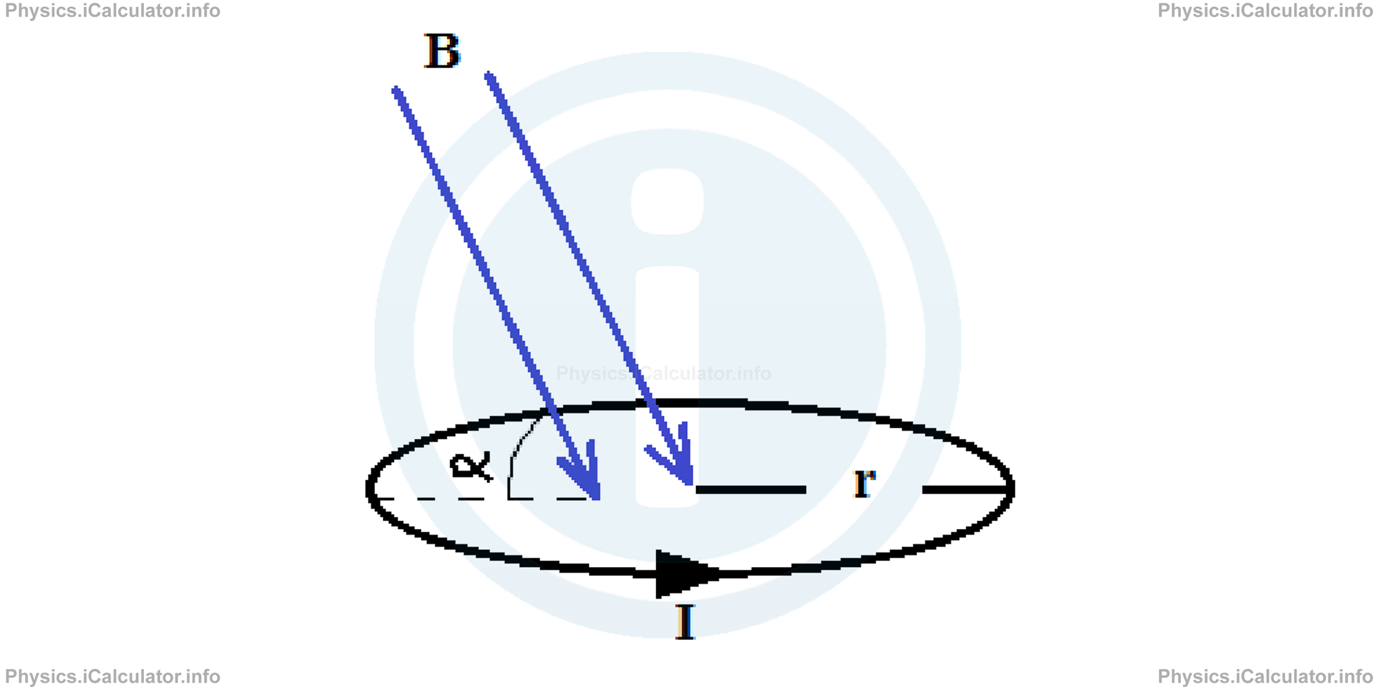 Physics Tutorials: This image provides visual information for the physics tutorial Magnetic Dipole Moment