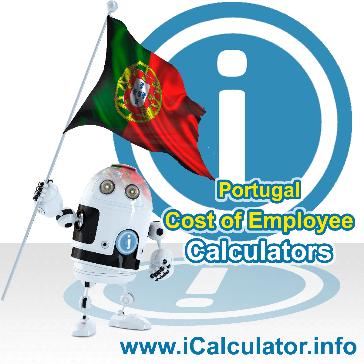 True Cost of an Employee in Portugal Calculator. This image shows a new employer in Portugal looking hiring a new employee, they calculate the cost of hiring an employee in Portugal using the True Cost of an Employee in Portugal calculator to understand their employment cost in Portugal in 2020