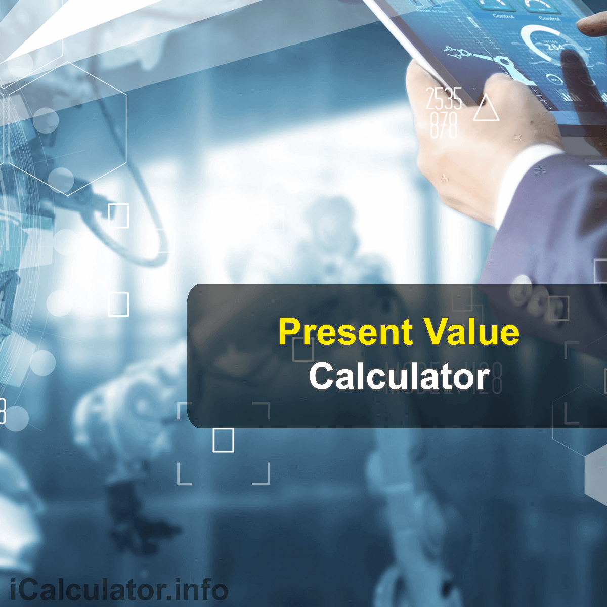 Present Value of a Future SumCalculator. This image provides details of how to calculate the Present Value of a Future Sum using a good calculator, a pen and notepad. By using the Present Value of a Future Sum formula, the Present Value of a Future Sum Calculator provides acalculation of the present value of a future sum on money using known interest rate of an investment and period of the investment.