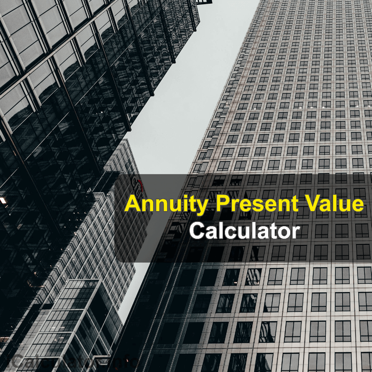 Present Value of Annuity Calculator. This image provides details of how to calculate the present value of an annuity using a calculator and notepad. By using the present value of an annuity formula, the Present Value of Annuity Calculator Calculator provides a true calculation of the current value of future payments that could be received.
