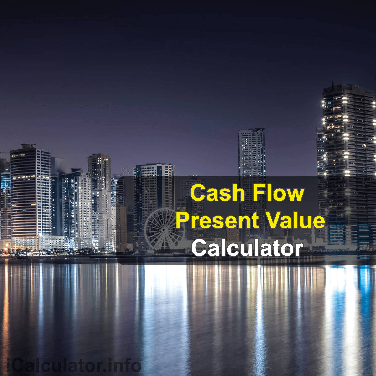 Present Value of Cash Flows Calculator. This image provides details of how to calculate the present value of cash flows using a calculator and notepad. By using the present value of cash flows formula, the Present Value of Cash Flows Calculator provides a true calculation of the funds received in the near future whether they are worth as much as their value today
