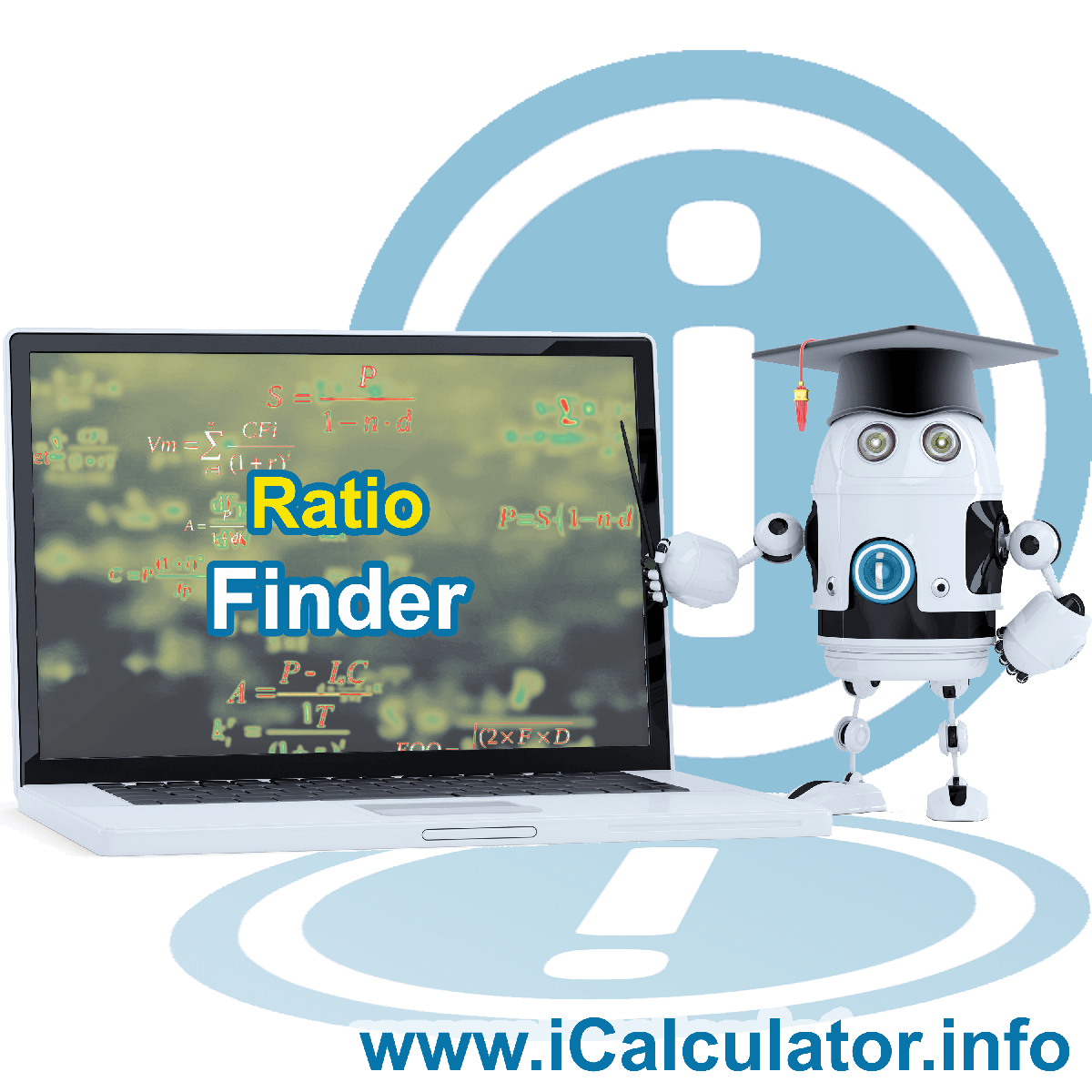 Ratio Finder. This image shows the properties and ratio finder formula for the Ratio Finder