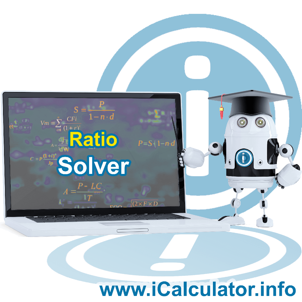 Ratio Solver. This image shows the properties and ratio solver formula for the Ratio Solver