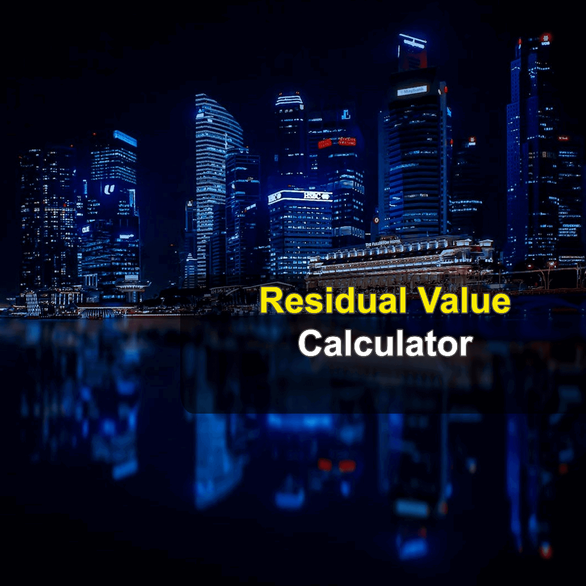 Residual Value Calculator. This image provides details of how to calculate the residual value of an asset. By using the residual value formula, the Residual Value Calculator provides a true calculation of your asset's value after it has served its useful life.