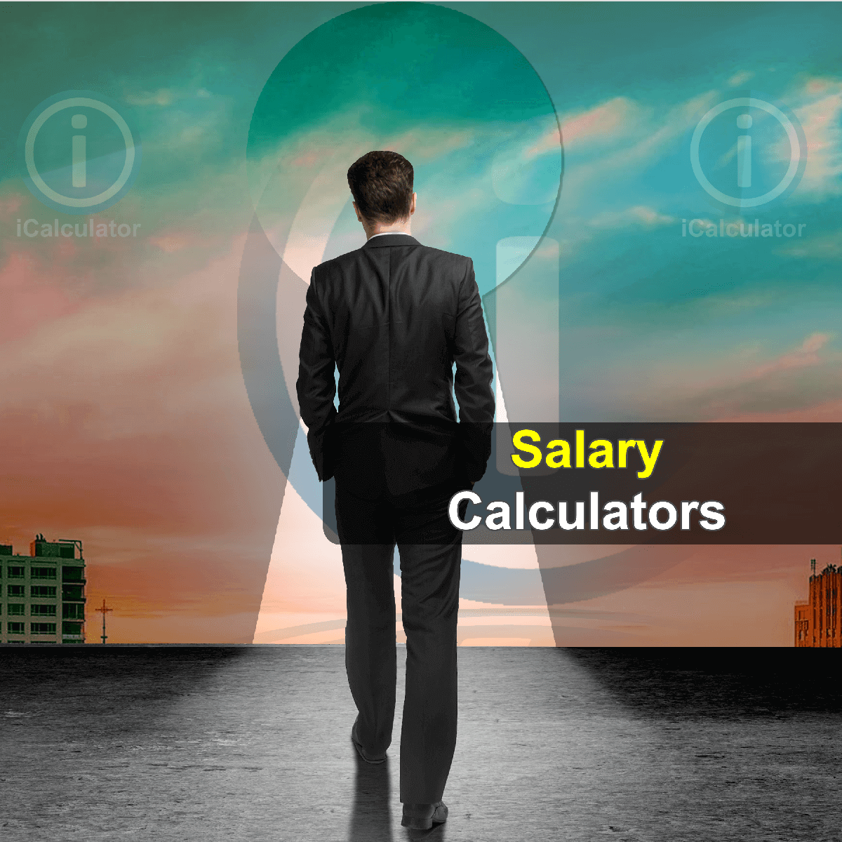 Salary Calculators. This image shows an employee considering the calculations involved in payroll deductions and calculating their annual salary using the salary calculators provided by iCalculator.
