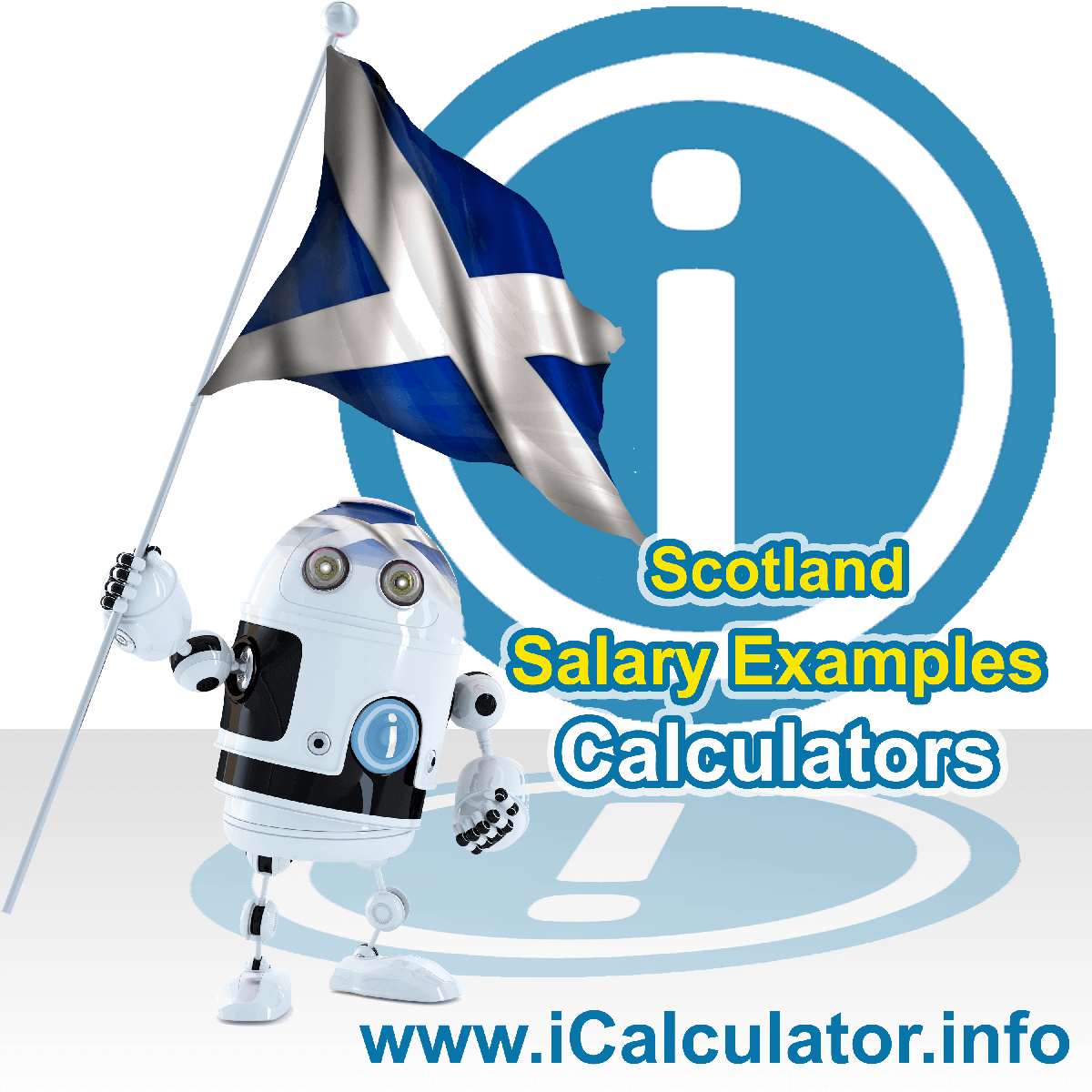 Scotland Salary Examples. This image shows the United Kingdom flag and information relating to the tax formula used to calculate Scottish Salary Examples