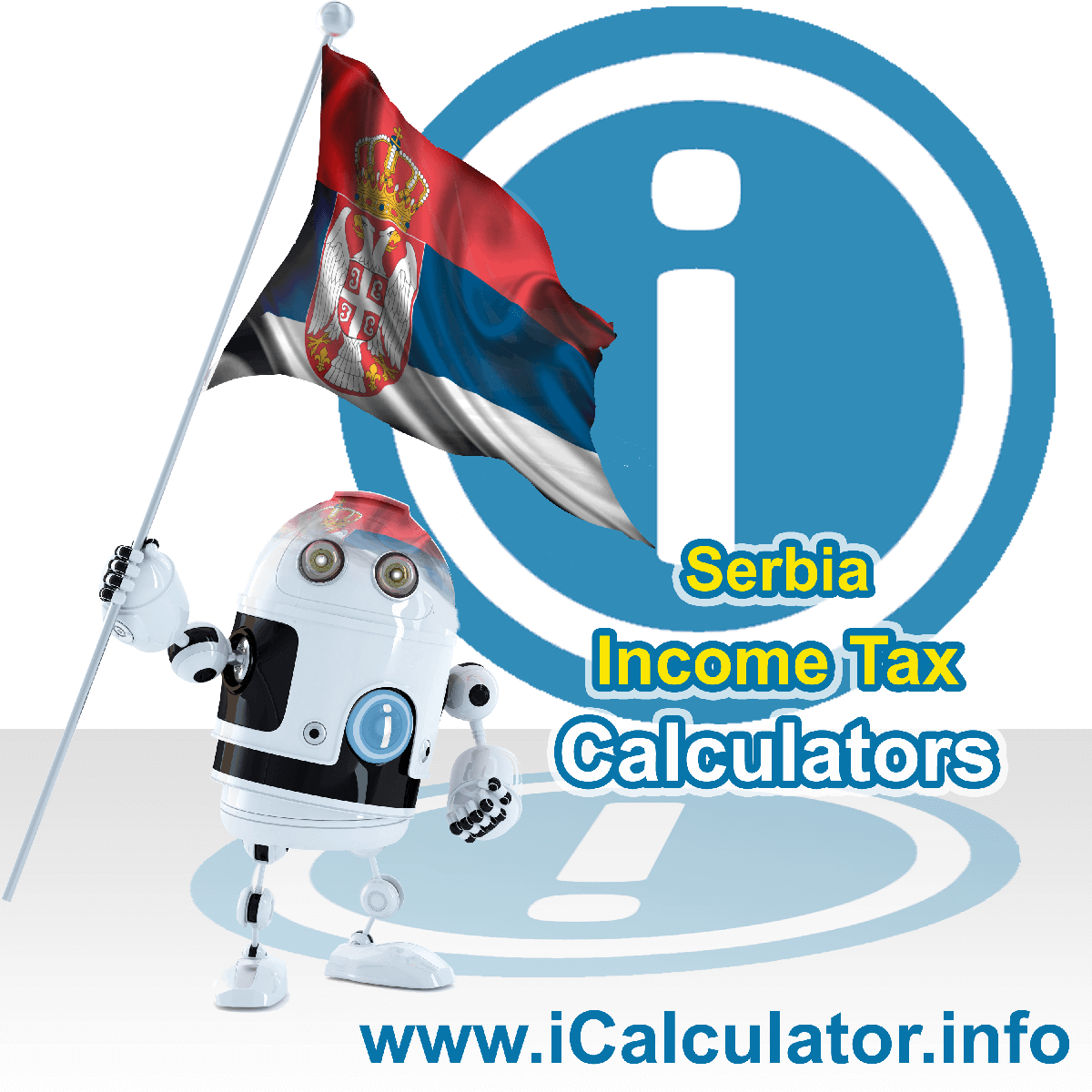 Serbia Income Tax Calculator. This image shows a new employer in Serbia calculating the annual payroll costs based on multiple payroll payments in one year in Serbia using the Serbia income tax calculator to understand their payroll costs in Serbia in 2020