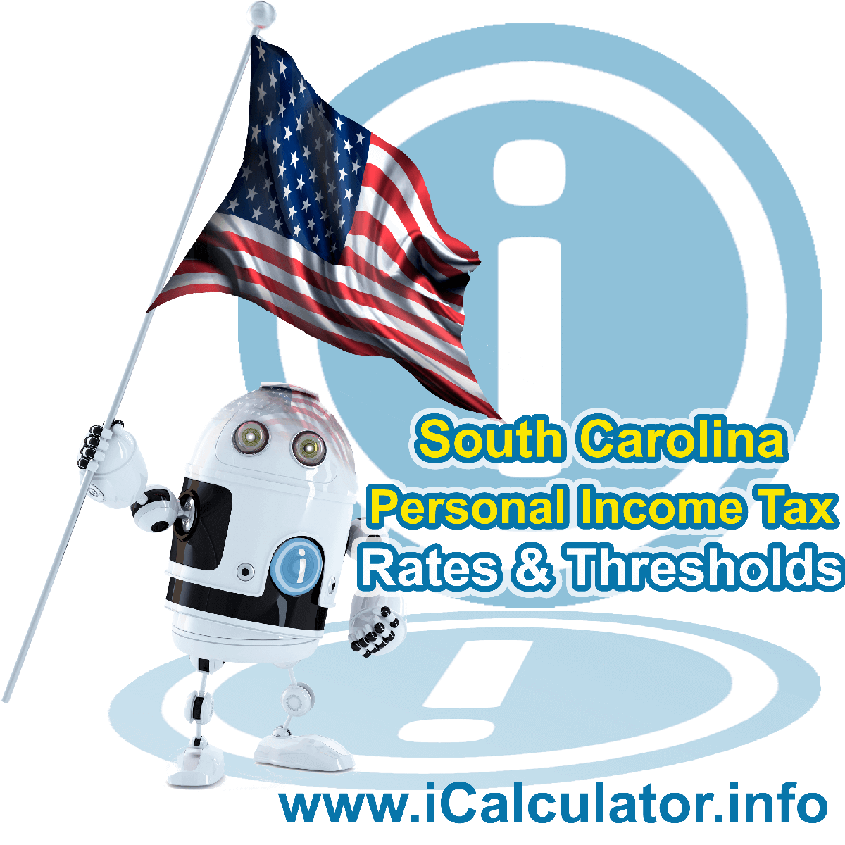 South Carolina State Tax Tables 2019. This image displays details of the South Carolina State Tax Tables for the 2019 tax return year which is provided in support of the 2019 US Tax Calculator