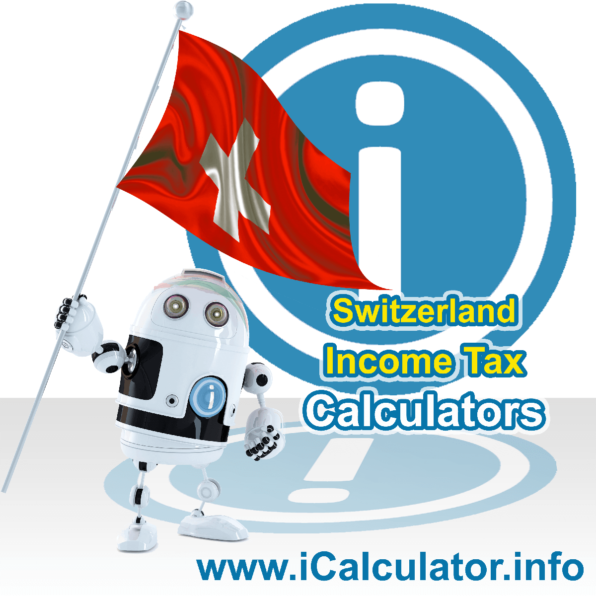 Switzerland Income Tax Calculator. This image shows a new employer in Switzerland calculating the annual payroll costs based on multiple payroll payments in one year in Switzerland using the Switzerland income tax calculator to understand their payroll costs in Switzerland in 2021