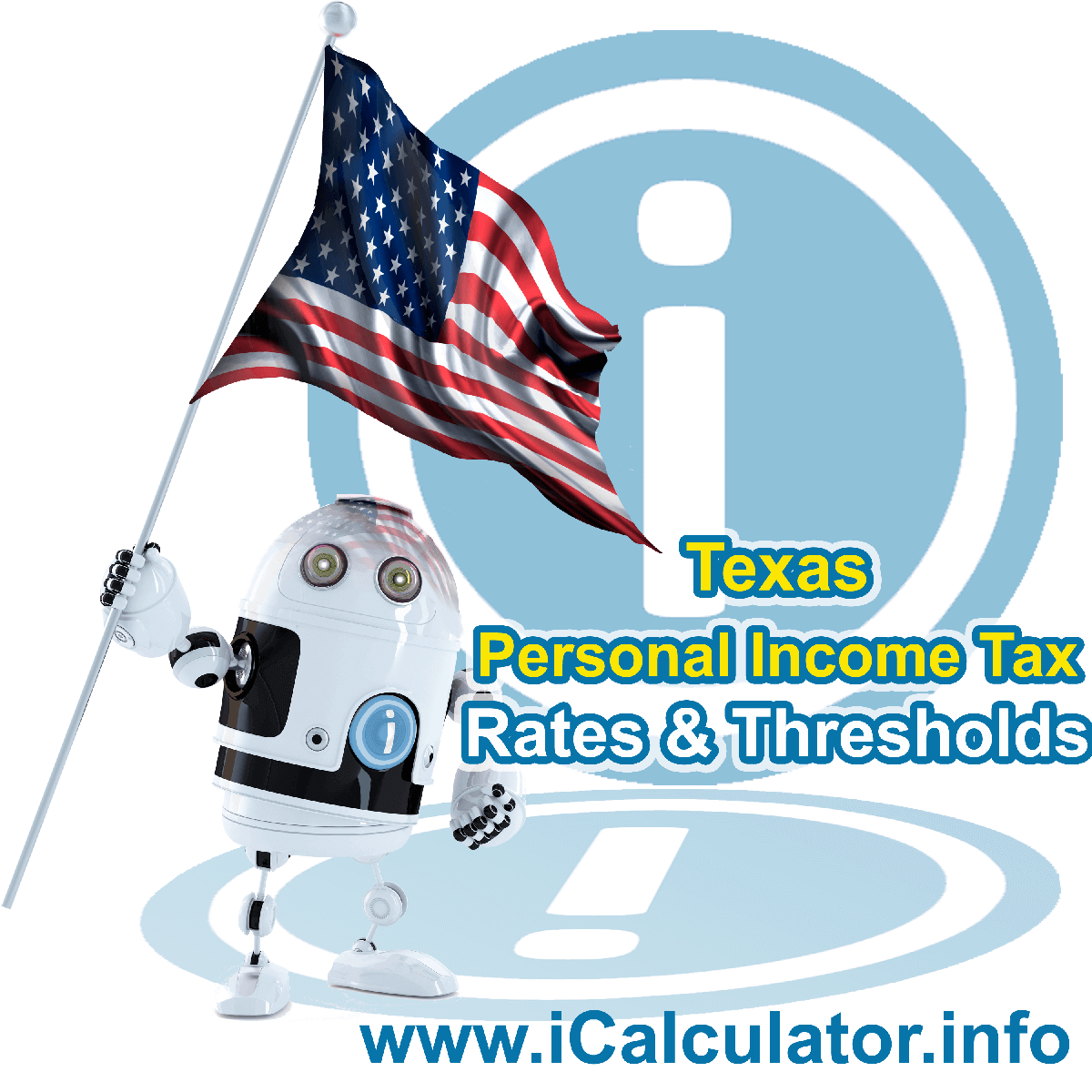 Texas State Tax Tables 2016. This image displays details of the Texas State Tax Tables for the 2016 tax return year which is provided in support of the 2016 US Tax Calculator