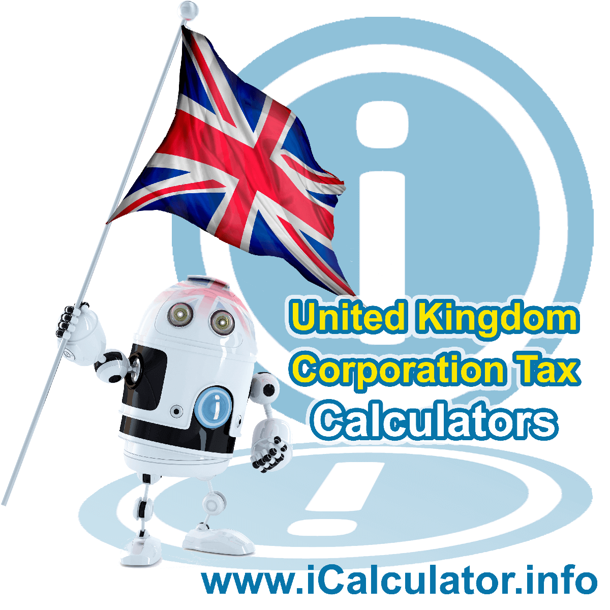 This image shows details about corporation tax calculation in the UK including finance and tax formula used to calculate corporation tax in the UK as integrated in the UK Corporation Tax Calculator 2020/21