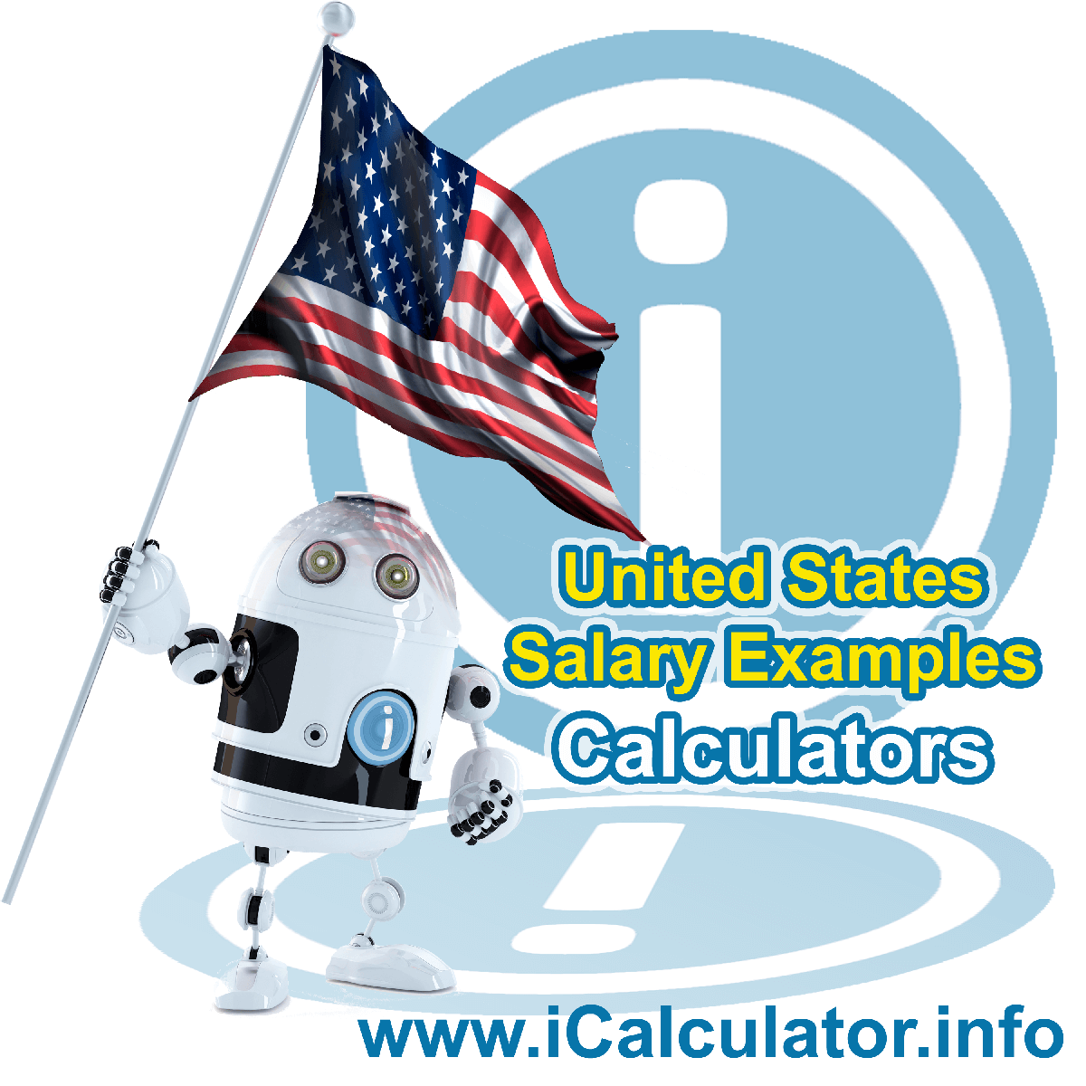 US Salary examples featuring federal tax return calculations, state tax return calculations, how to calculate mdicare, pensions and other tax credit elements which form part of the annual tax return