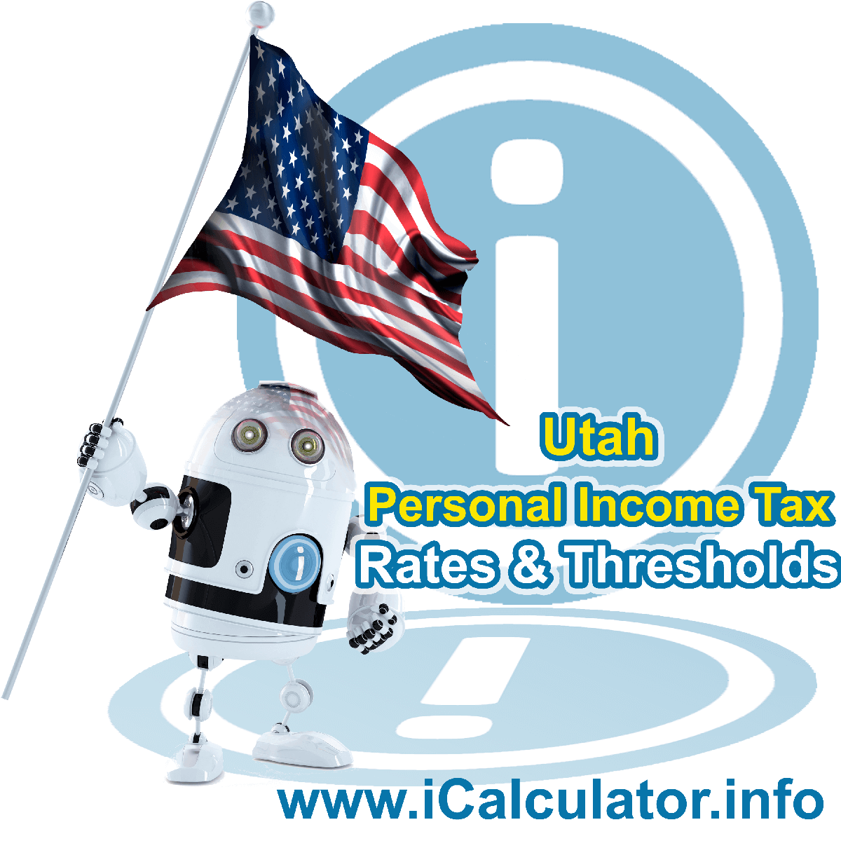 Utah State Tax Tables 2018. This image displays details of the Utah State Tax Tables for the 2018 tax return year which is provided in support of the 2018 US Tax Calculator