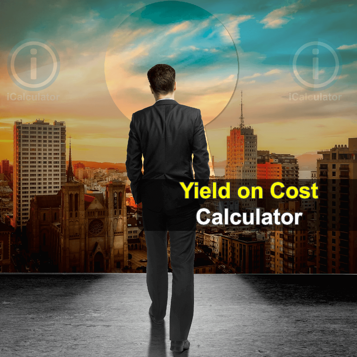 Yield on Cost Calculator. This image provides details of how to calculate Yield on Cost using a calculator and notepad. By using the Yield on Cost Ratio formula, the Yield on Cost Calculator provides a true calculation of the profitability of your investment portfolio