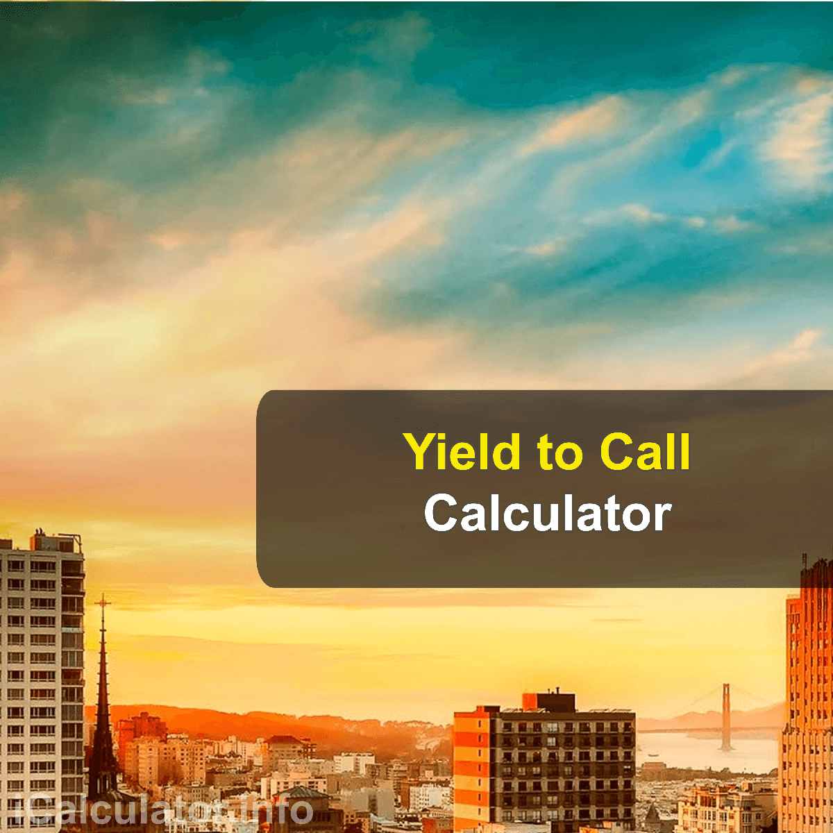 Yield to Call Calculator. This image provides details of how to calculate Yield to Call using a calculator and notepad. By using the Yield to Call formula, the Yield to Call Calculator provides a true calculation of the yield to call on your bonds with several parameters by editing the details to get the results for a different calculation